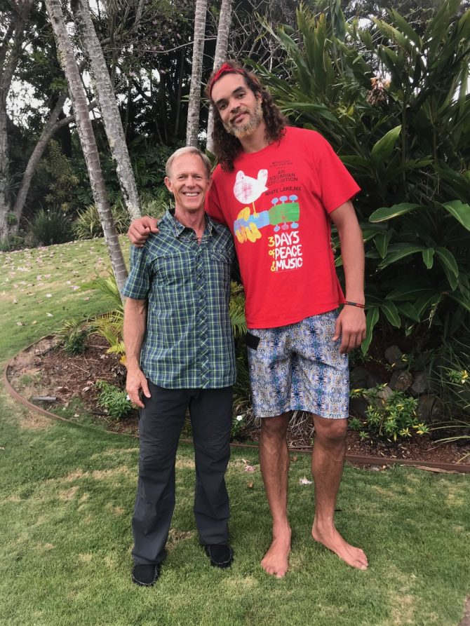Dr. Kevin Davison with patient and friend NBA star Joakim Noah after treating his shoulder.
